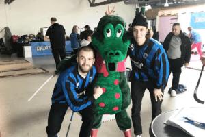 August Elebring och Anton Andersson tillsammans med Kaj Krokodil